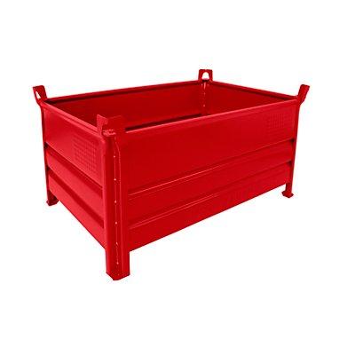 Heson Vollwand-Stapelbehälter, BxL 800 x 1200 mm - Füllhöhe 500 mm, Traglast 2000 kg