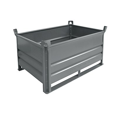 Heson Stapelbehälter mit Kufen, Traglast 2000 kg - LxB 1200 x 800 mm