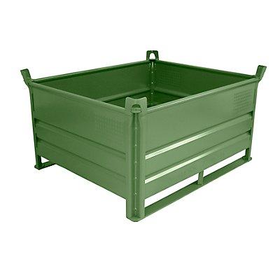Heson Stapelbehälter mit Kufen, Traglast 2000 kg - LxB 1200 x 1000 mm