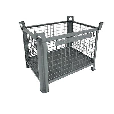 Heson Stapelbehälter mit Stahlblechboden - LxB 800 x 600 mm