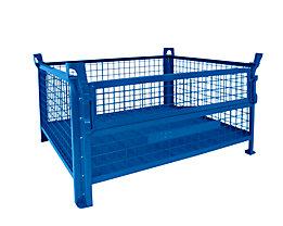 Heson Längswand halb abklappbar - für 800 x 600 mm - lackiert blau, Mehrpreis
