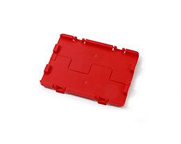 Couvercle rabattable avec charnières - lot de 4, L x l 300 x 200 mm - rouge