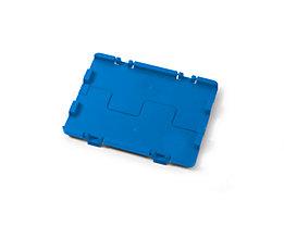 Couvercle rabattable avec charnières - lot de 4, L x l 300 x 200 mm - bleu