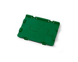 Couvercle rabattable avec charnières - lot de 4, L x l 300 x 200 mm - vert