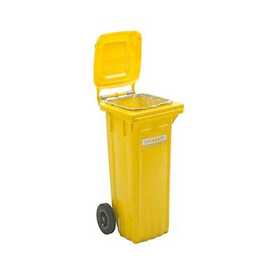 EUROKRAFT Großmülltonne aus Kunststoff - Volumen 80 Liter, HxBxT 935 x 448 x 372 mm