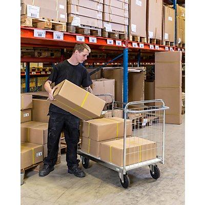 Verzinkter Paketwagen, HxBxT 1025 x 1390 x 650 mm, ohne Feststeller