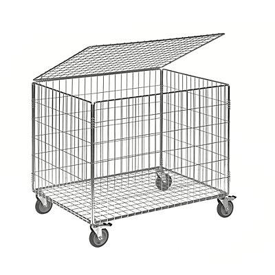 Kongamek Gitterwagen - elektrolytisch verzinkt, Tragfähigkeit 100 kg, HxBxT 740 x 835 x 625 mm, ohne Stoßschutz