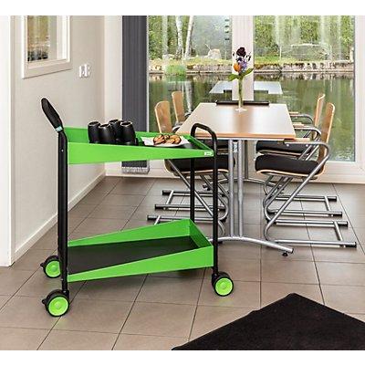 Kongamek Servierwagen DESIGN - LxBxH 865 x 505 x 980 mm, schwarz/grün