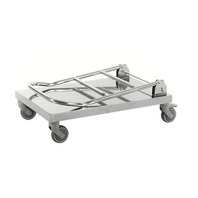 Edelstahl-Plattformwagen, Tragf?higkeit 100 kg, LxBxH 880 x 500 x 965 mm