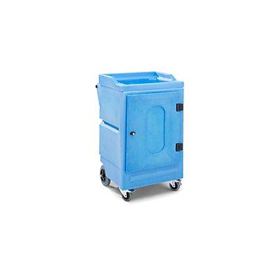 PE-Umweltwagen, 1 Wannenboden, 2 Auffangwannen LxBxH 725 x 640 x 1075 mm