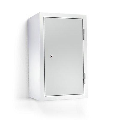 QUIPO Hängeschrank - HxBxT 600 x 350 x 320 mm, mit 1 Fachboden - lichtgrau RAL 7035
