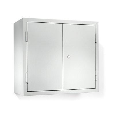 QUIPO Hängeschrank - HxBxT 600 x 650 x 320 mm, mit 1 Fachboden - lichtgrau RAL 7035