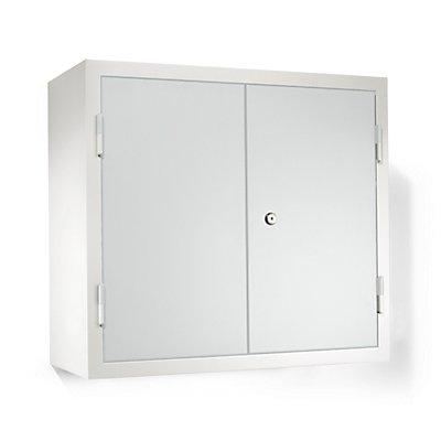 QUIPO Hängeschrank - HxBxT 600 x 650 x 320 mm, mit 2 Fachböden, 2 Schubladen - lichtgrau RAL 7035