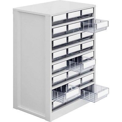 Lockweiler Schubladenmagazin, Gehäuse-Traglast 240 kg - HxBxT 862 x 600 x 417 mm, 24 Schubladen