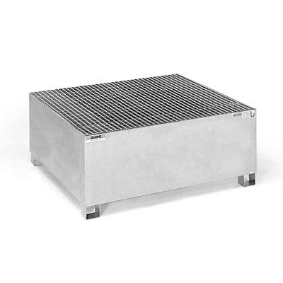 QUIPO Stahl-Auffangwanne für Tankcontainer IBC/KTC, für 1 x 1000-l-Container / 4 x 200-l-Fass stehend