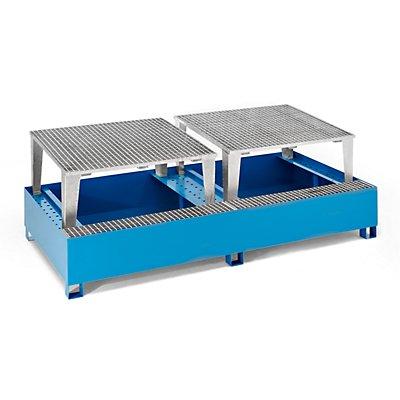 QUIPO Stahl-Auffangwanne für Tankcontainer IBC/KTC, für 2 x 1000-l-Container