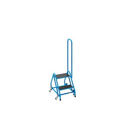 EUROKRAFT Stehleiter, mobil - mit 2 Stufen