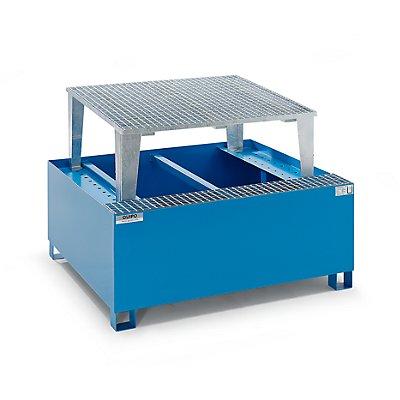 QUIPO Stahl-Auffangwanne für Tankcontainer IBC/KTC, für 1 x 1000-l-Container