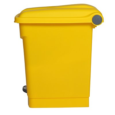 Collecteur de déchets à pédale, en plastique - h x l x p 435 x 410 x 400 mm, 30 l