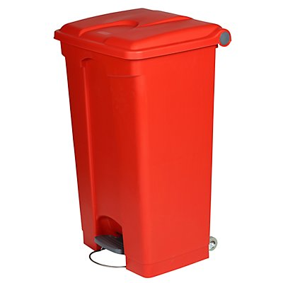 Kunststoff-Tretabfallsammler - HxBxT 790 x 505 x 410 mm, 90 l