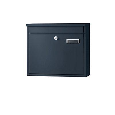 Briefkasten - mit geradem Dach, Stahlblech