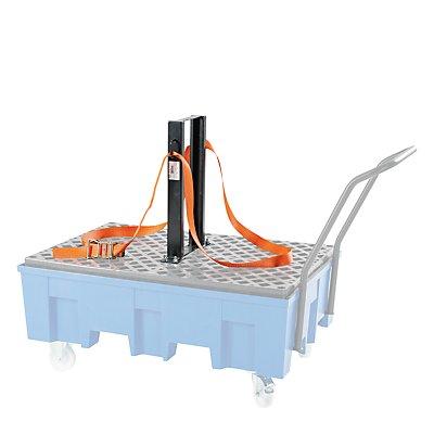 Fasshaltegurt / Spanngurt-Vorrichtung, für fahrbare 2-Fass-Wanne Höhe 600 mm