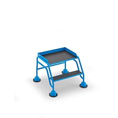 EUROKRAFT Mobile Stehleiter mit Plattform - 2 Stufen, ohne Geländer