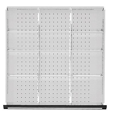 Trennblech 1/3-Teilung, für Schrankbreite 760 mm für Schubladenhöhe 60 mm