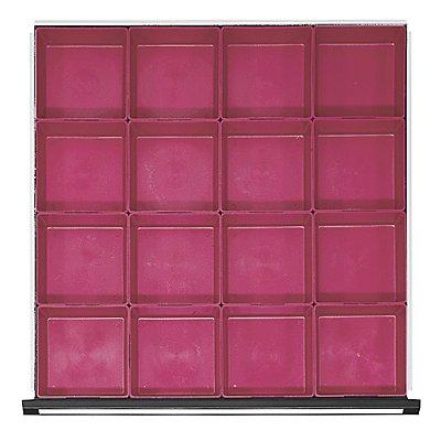Kunststoff-Kleinteilekasten mit 20 Mulden, für Schrankbreite 760 mm für Schubladenhöhe 60 mm