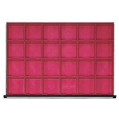 Kunststoff-Kleinteilekasten mit 20 Mulden, für Schrankbreite 1060 mm für Schubladenhöhe 60 mm
