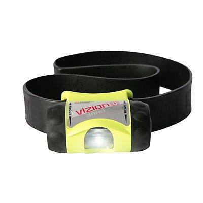Helm- und Taschenlampe - mit eLED, Leistung 65 Lumen - mit Gummihelmband, neongelb