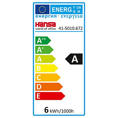 Hansa Schwanenhals-LED-Tischleuchte Flex - 5 Watt, dimmbar, schwarz