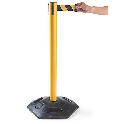 Gurtabsperrpfosten, VE 2 Stk - für Außenanwendung, Bandauszug 3700 mm, 4-Wege-System