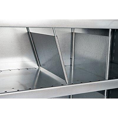 Steckregal-System, Regalhöhe 1990 mm - 10 Fächer, BxT 1000 x 500 mm