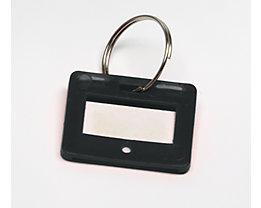 Schlüsselanhänger - VE 10 Stück - schwarz, ab 10 VE