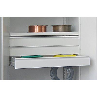 Schublade, pulverbeschichtet - für Schwerlastschrank ohne Trennwand