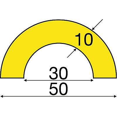 SHG Knuffi Rohrschutz - Zuschnitt individuell, pro lfd. m - Querschnitt bogenförmig klein