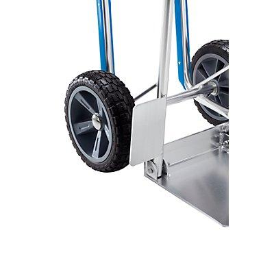 Aluminium-Sackkarre EASY - mit Gleitkufen und klappbarer Schaufel - Tragfähigkeit 150 kg