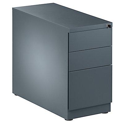 QUIPO Standcontainer, Stahl - 2 Materialschübe, 1 Hängeregistratur
