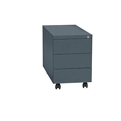 QUIPO Rollcontainer, Stahl - 1 Stiftschale, 3 Materialschübe