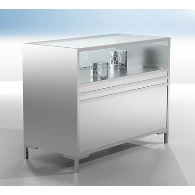 BST LINK Thekenvitrine - 1/3 verglast - HxBxT 900 x 1200 x 600 mm
