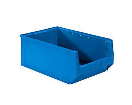 mauser Sichtlagerkasten aus Polyethylen - Inhalt 24,65 l - blau, VE 10 Stk