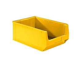 mauser Sichtlagerkasten aus Polyethylen - Inhalt 24,65 l - gelb, VE 10 Stk