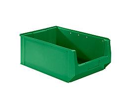 mauser Sichtlagerkasten aus Polyethylen - Inhalt 24,65 l - grün, VE 10 Stk