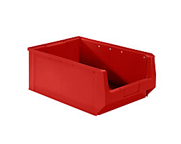 mauser Sichtlagerkasten aus Polyethylen - Inhalt 24,65 l - rot, VE 10 Stk