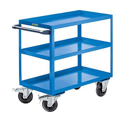 EUROKRAFT ACTIVE GREEN Chariot de montage - 3 tablettes, force 350 kg