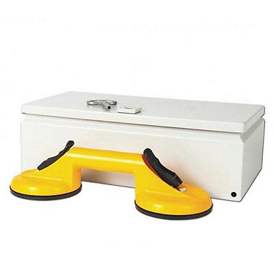 Bohle Plattenheberbox, mit Geräteschloss LxB 400 x 200 mm