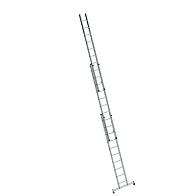 Anlegeleiter höhenverstellbar - Schiebeleiter, 3-teilig mit Traverse