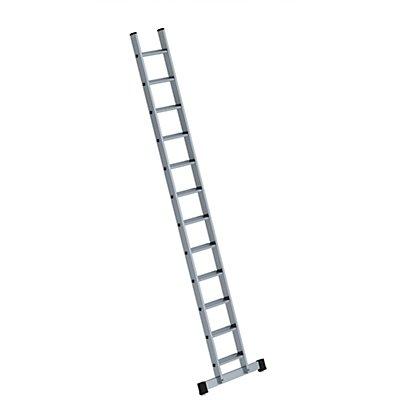 Anlegeleiter mit Stufen - Breite 350 mm, mit nivello®-Traverse - 12 Stufen