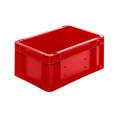 Euro-Format-Stapelbehälter, Wände und Boden geschlossen - LxBxH 300 x 200 x 145 mm - grün, VE 5 Stk